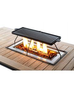 Happy Cocooning grillplaat Inbouwbrander Rechthoek