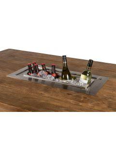 Inbouw wijnkoeler rechthoek voor tuintafel