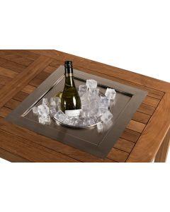 Inbouw wijnkoeler vierkant voor tuintafel