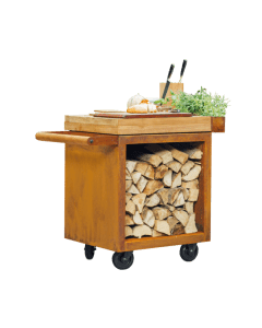 OFYR Mise en place Table Pro 65 Corten Teak Wood