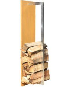 Gardenmaxx woody 100 voor houtopslag corten