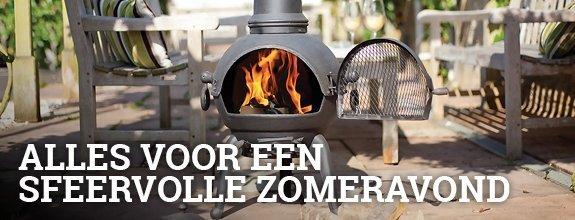 Zomer bij Vuurkorfwinkel.nl - Doe inspiratie op en shop de mooiste tuinhaard -