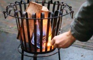 Vuurkorf aansteken