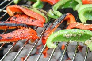 Paprika op de barbecue