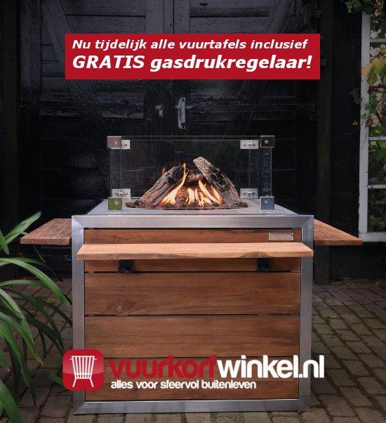 Gratis gasdrukregelaar Vuurkorfwinkel.nl