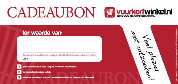 Cadeaubon Vuurkorfwinkel.nl