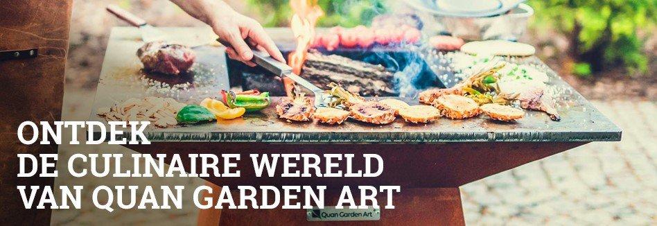 Quan Garden Art BBQ vuurschaal en aanverwante accessoires